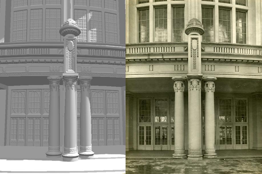3-D model vs. photograph Mindscape3D – Ghent City Archive