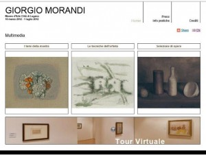 FIG 1. GiorgioMorandiMultimedia, the homepage