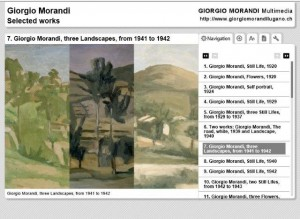 FIG 3. GiorgioMorandiMultimedia, the narrative on a selection of works